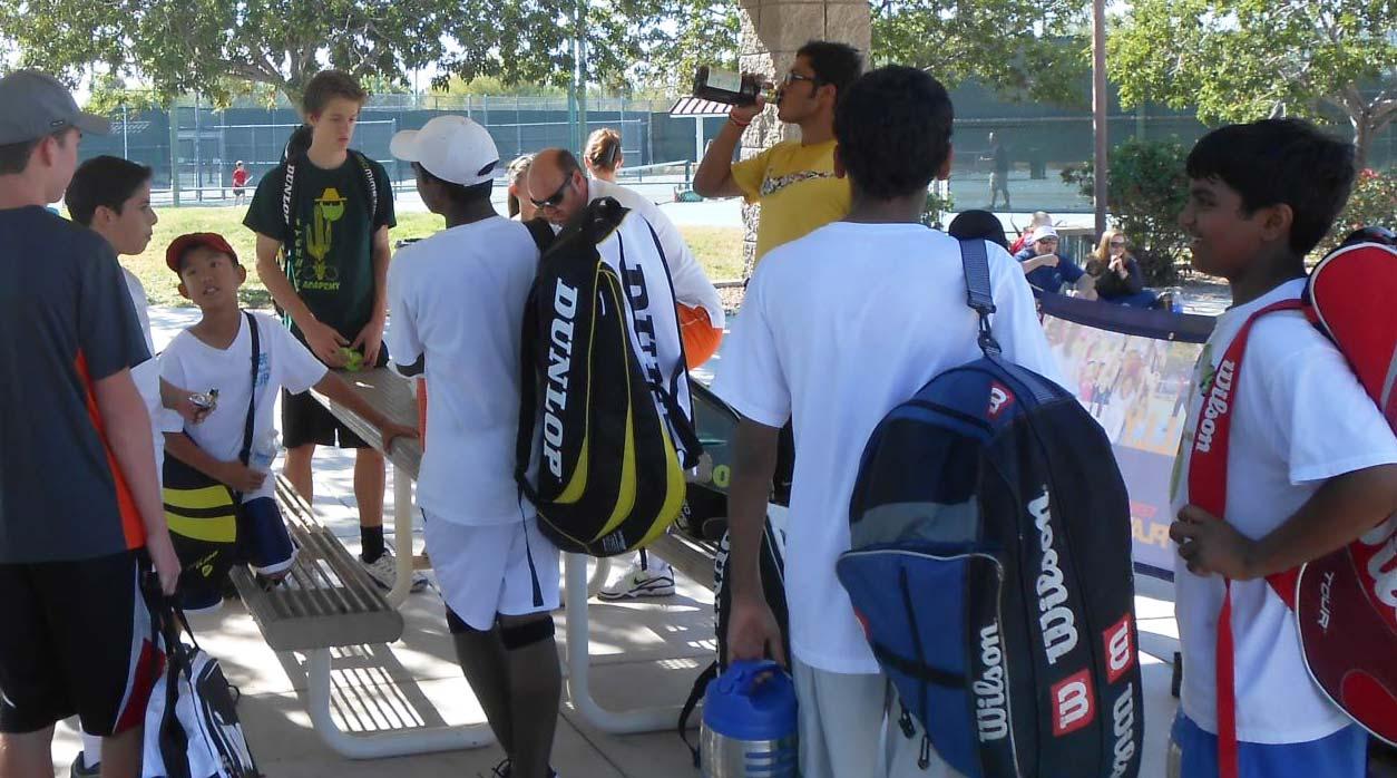 Basha Tennis Students Preparing for Match