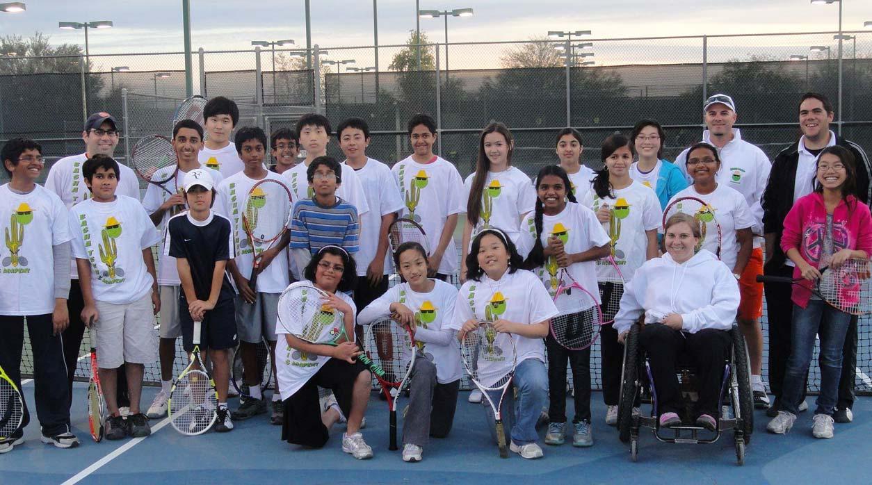 Basha Tennis Students Group Photo