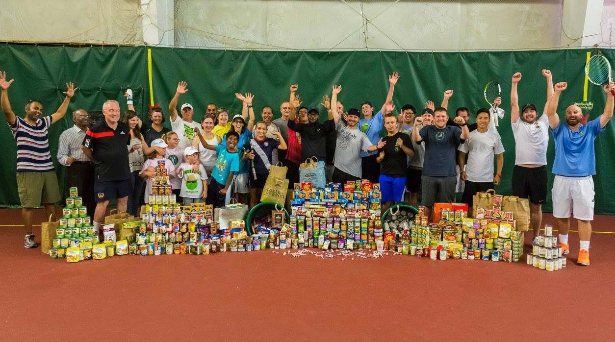 Basha Tennis Food Drive for Ace Out Hunger