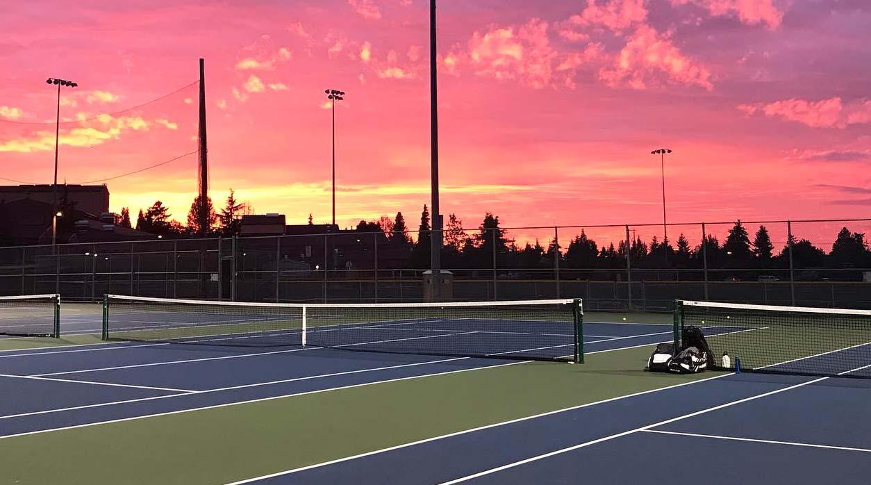 Basha Tennis Mountlake Terrace Sunset Over Courts