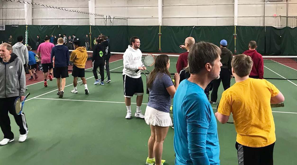 Basha Tennis Indoor Courts with Students