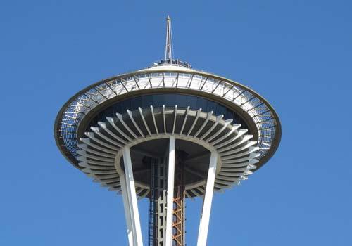 Seattle Space Needle Blue Skies