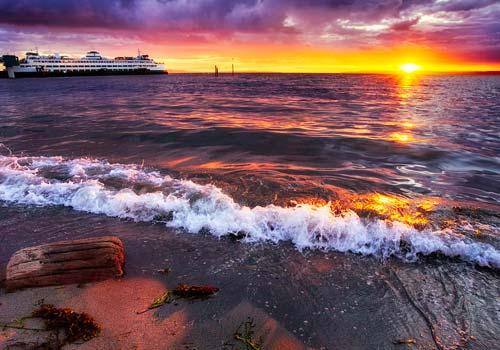 Edmonds Beach at Sunset